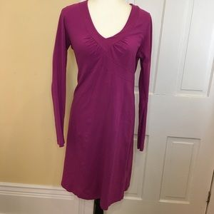 Athleta large Long sleeve cotton dress